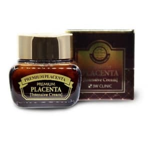 КРЕМ С ПЛАЦЕНТОЙ ДЛЯ ЛИЦА – (3W CLINIC PREMIUM PLACENTA INTENSIVE CREAM) - 50 ML. КОРЕЯ.